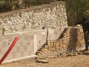 Mur en pierre Allauch